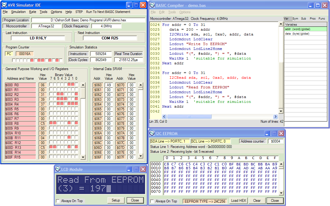 Avr Simulator Ide With Avr Basic Compiler Assembler Disassembler